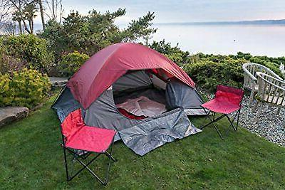 NEW- Camping Tent, 2 2 Folding Travel Chairs