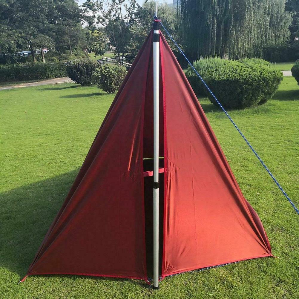 Outdoor Aluminum Tarp Poles Pole Adjustable