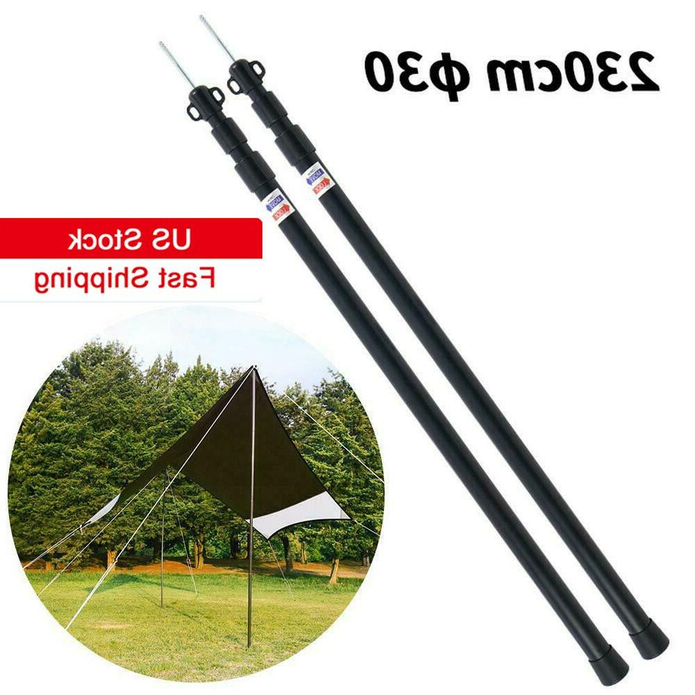 outdoor aluminum camping tarp poles telescoping tent
