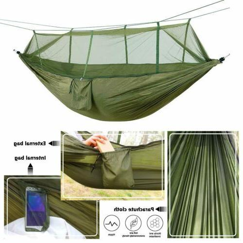Outdoor Camping Mosquito Hammock Tent Double Hanging Bed Travel Hike