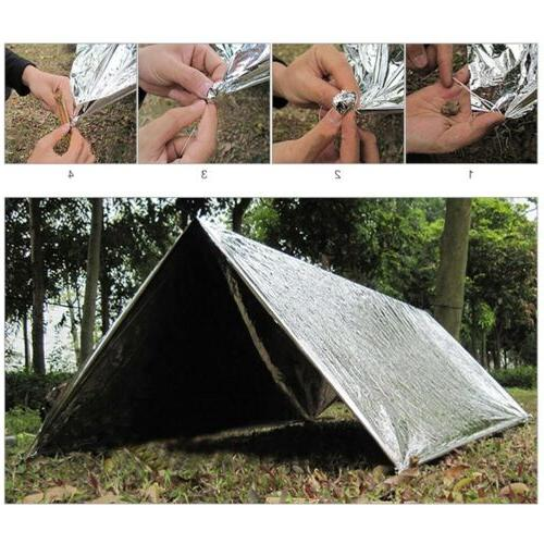 Outdoor Emergency Tent Blanket Folding Survival Shelter Camping