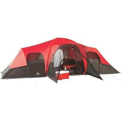 Large Tent Camping Outdoor Ozark Trail 3 Room 10 Person Wate