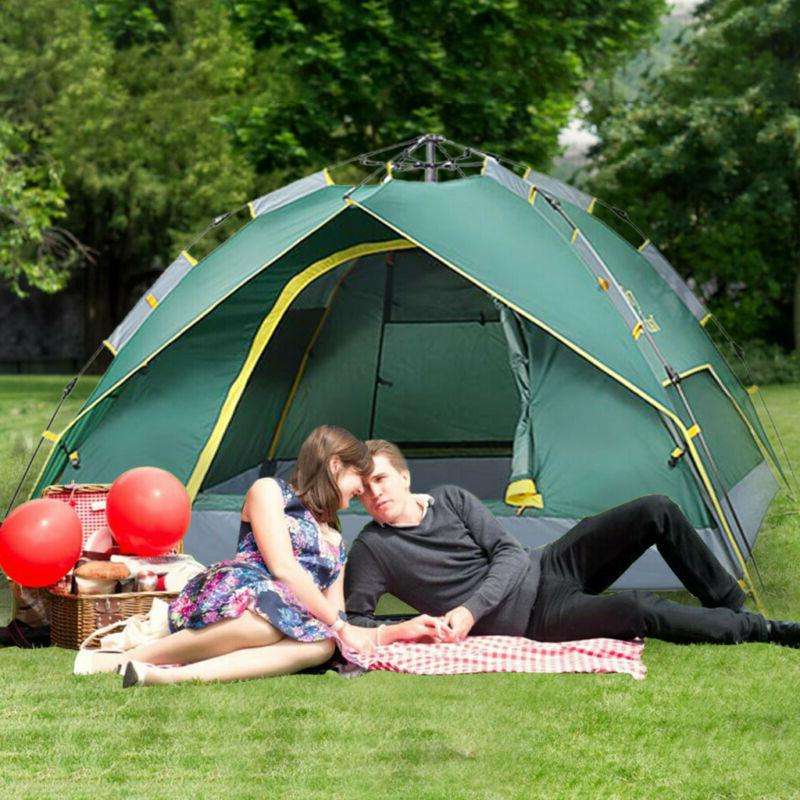 4-Person Instant Pop-Up Tent Camping Outdoor Family Hiking S