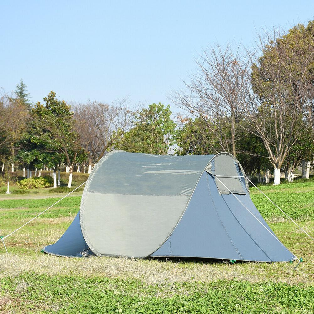 Pop Camping Tent Automatic Family Camping for &