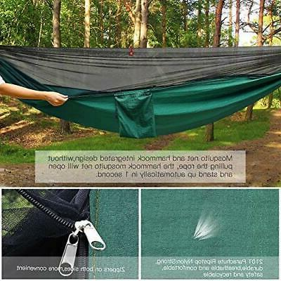 Portable Nylon Hammock Tent With Mosquito Outdoor Hike
