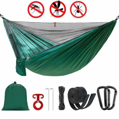 portable nylon hammock tent with mosquito net
