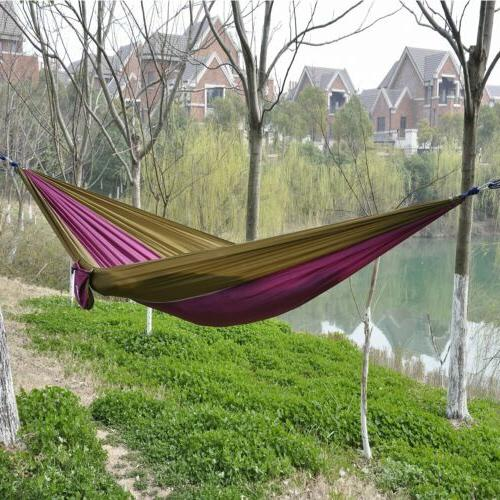 Portable Parachute Travel Camping Hammock for Double