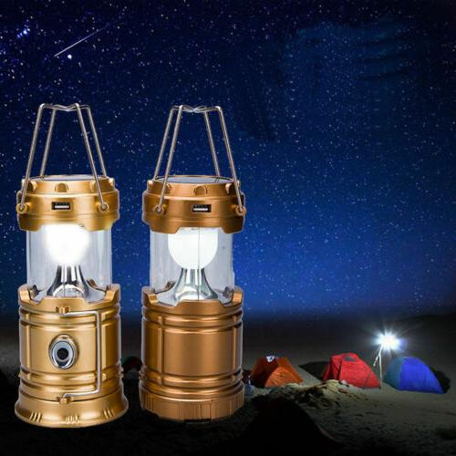 Rechargeable LED Camping Tent Lantern Torch US