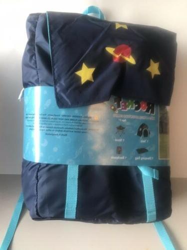 Rocket 4 Camping Tent, Sleeping Bag, Space