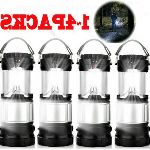 solar portable flashlight led rechargeable camping lantern