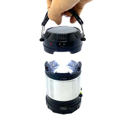 Solar Portable LED Rechargeable Tent USB