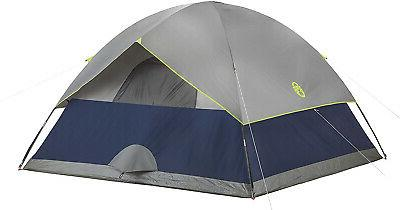 Camping Sundome Navy Grey With Storage Pockets