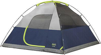 Camping Tent Sundome Navy Grey With Storage