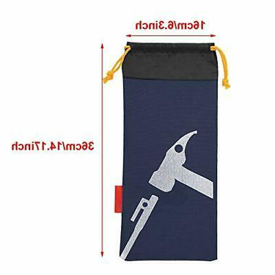 Alomejor Bag Camping Portable Tent Stakes for