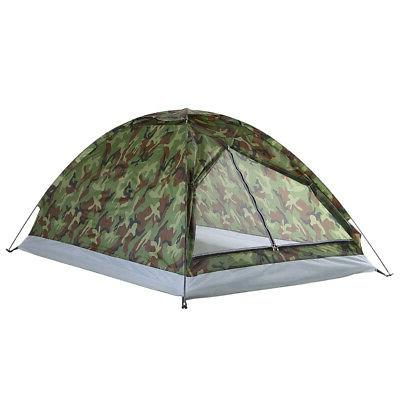 Portable Hiking Tent Camouflage Double Outdoor 2 Person F7C1