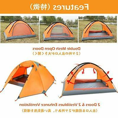 TRIWONDER 2 Person 4 Season Tent for Backpacking Camping Out