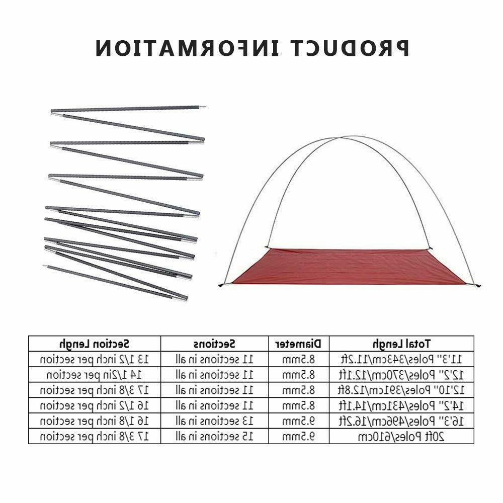 ultralight aluminum alloy tent pole camping travel