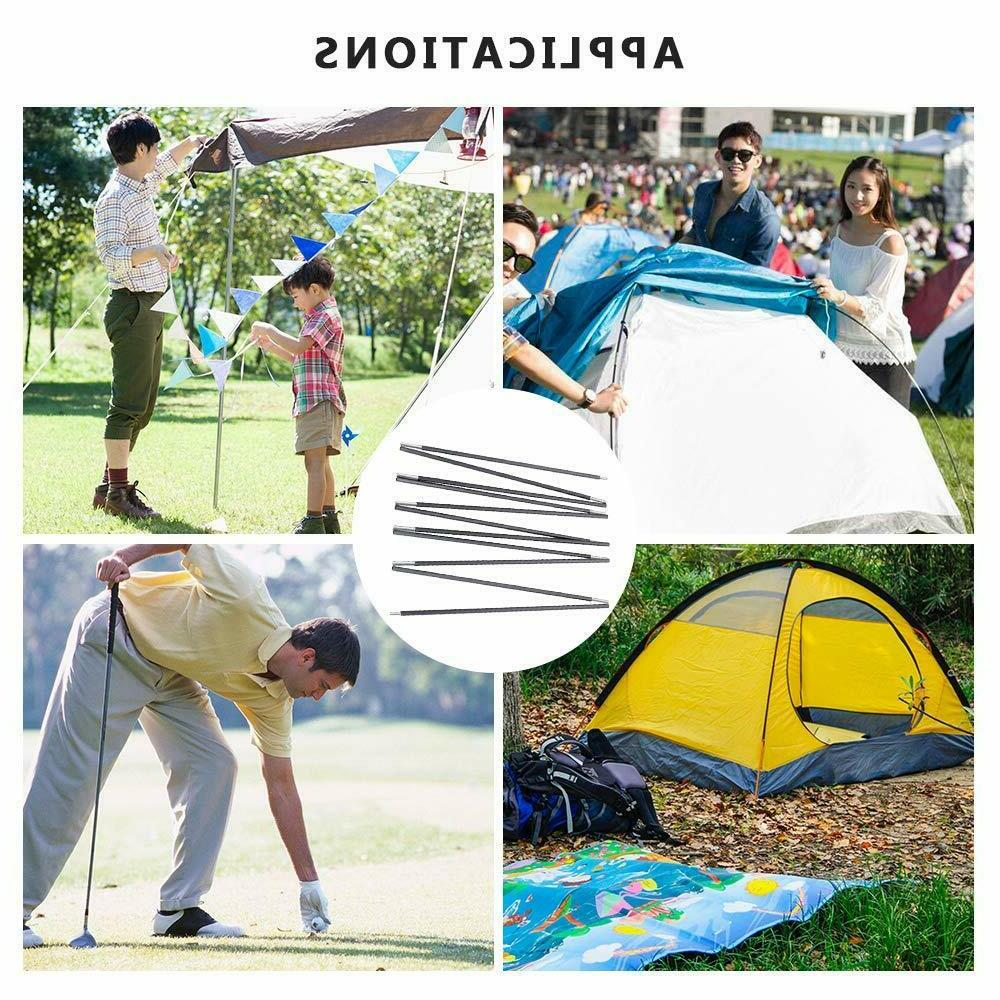 Ultralight Alloy Tent Pole Camping Travel Support