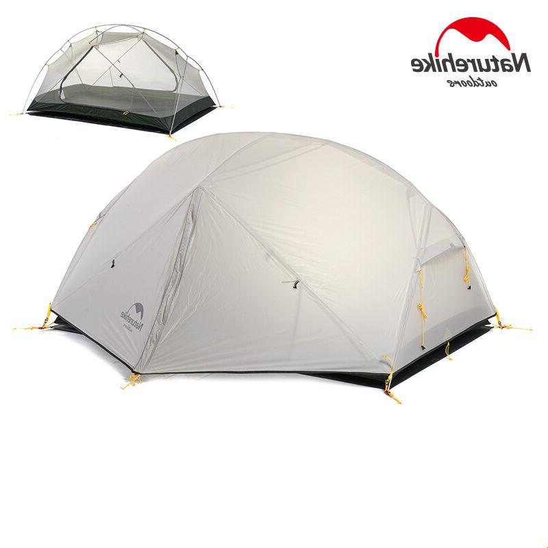 Naturehike Ultralight Camping 2 Double Layers Dome Tent Season