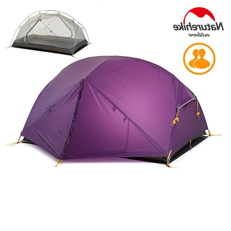 ultralight camping tent 2 person double layers
