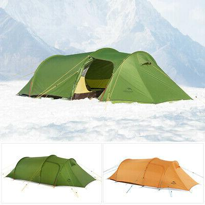 ultralight family camping tent tunnel hiking waterproof