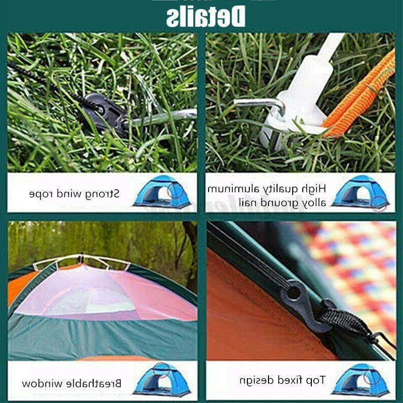 US 2-3 Person Up Auto Camping Waterproof Outdoor Hiking Travel +Bag