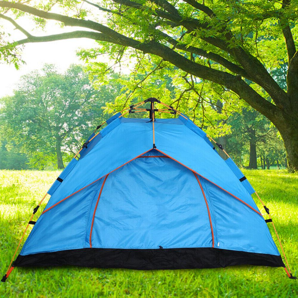 US 3-4 Person Pop-Up Outdoor Backpacking Tents