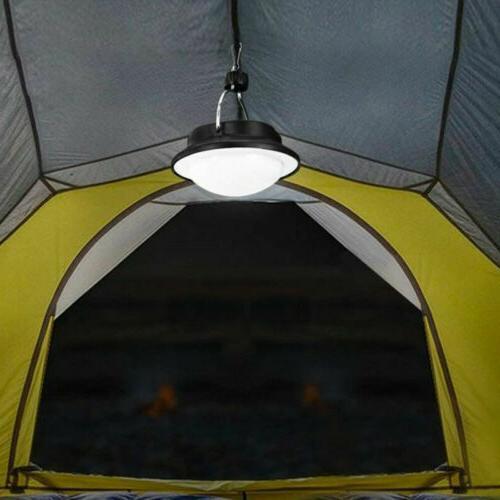 USB Portable Camping Solar Lantern Hanging Lamp Hook Outdoor Fishing