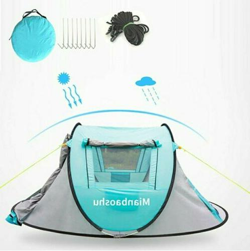 Waterproof Person Camping Tent Automatic Pop Quick Outdoor