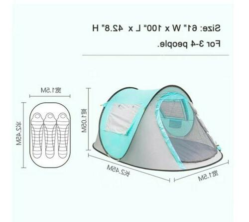 Waterproof 2-3 Tent Automatic Pop Quick Shelter