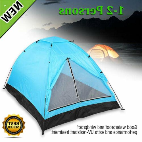 waterproof 2 person camping tent portable quick