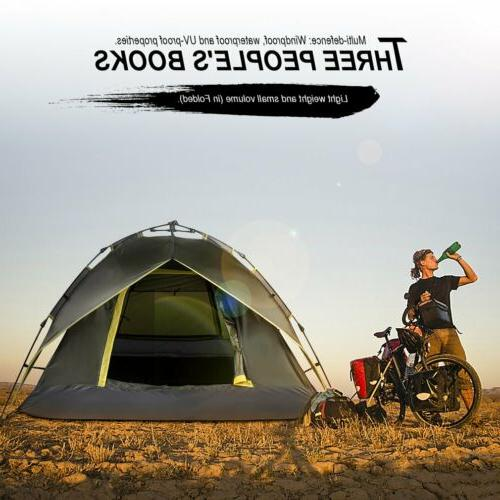 Waterproof 3 Person Camping Tent Shelter Hiking