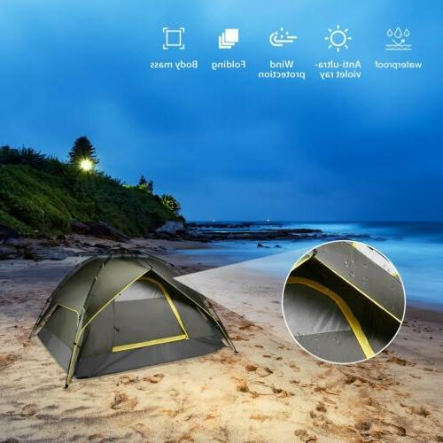 Waterproof 3 Person Tent Folding Quick Shelter