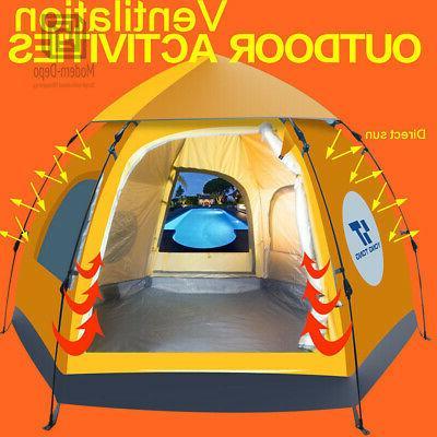 Waterproof Instant Up Brown Tent Hiking Tent