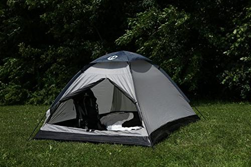 Tahoe Person Camping Tent - Black/Grey