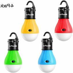 LED Camping Lantern Light Bulbs Clip Hook 4 Pack Portable Te