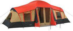 NEW Ozark Trail 3 Room Cabin Tent 10 Person 20x11 Large Camp