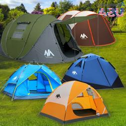 Outdoor 2-6 Person Double Layer Family Camping Hiking Tent I