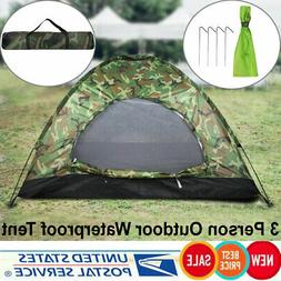 Outdoor Camouflage UV Protection Waterproof Big Tent for 3 P