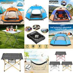 Outdoor Camping & Hiking Tent Stove Cooker Folding Desk Hamm