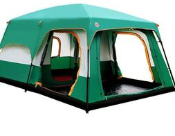 Outdoor Tent 8-12 People Camping Camp Tents Two Bedroom Big