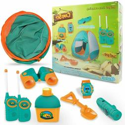 Play Tent Camping Kits For Girl Boy Kids Indoor Outdoor Play