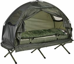 Outsunny Portable Camping Cot Tent with Air Mattress, Sleepi