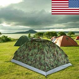 portable camping hiking tent camouflage lightweight double