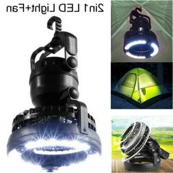 Portable LED Camping Tent Lantern Light with Ceiling Fan Hik