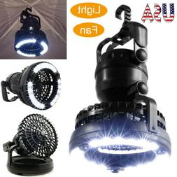Portable LED Tent Light Camping Lantern with Ceiling Fan Out