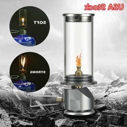 Portable Outdoor Camping Butane Gas Lantern Candle Lamp Ligh