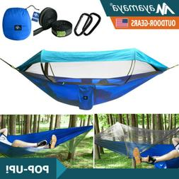 Portable Tent Camping Hammock Nylon With Mosquito Net Sunsha