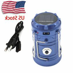 Rechargeable LED Camping Hiking Tent Light Portable Solar La