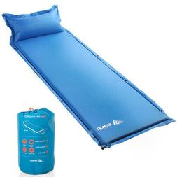Self Inflating Sleeping Pad With Pillow Camping Backpacking